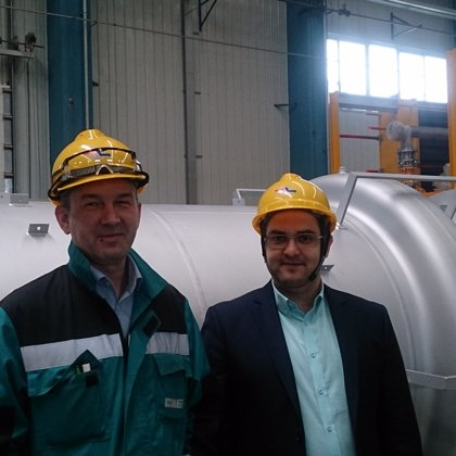 At inspection of tube heat exchangers, China